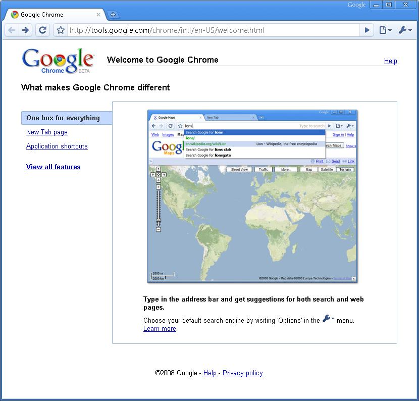 Google Chrome 3.0.193.0- Web Browser