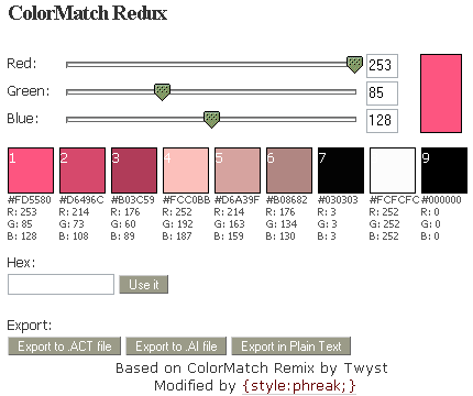 Colormatch Redux