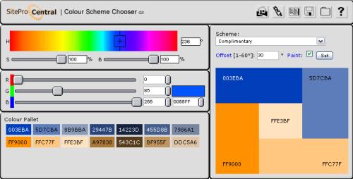 Color Scheme chooser
